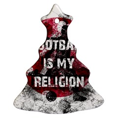 Football Is My Religion Christmas Tree Ornament (two Sides) by Valentinaart