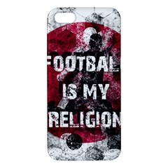 Football Is My Religion Apple Iphone 5 Premium Hardshell Case by Valentinaart