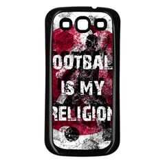 Football Is My Religion Samsung Galaxy S3 Back Case (black) by Valentinaart