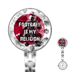 Football Is My Religion Stainless Steel Nurses Watch by Valentinaart