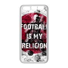 Football Is My Religion Apple Iphone 5c Seamless Case (white) by Valentinaart