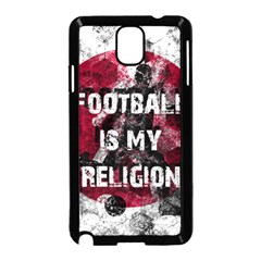 Football Is My Religion Samsung Galaxy Note 3 Neo Hardshell Case (black) by Valentinaart
