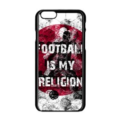 Football Is My Religion Apple Iphone 6/6s Black Enamel Case by Valentinaart