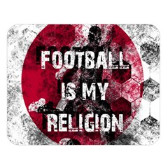 Football Is My Religion Double Sided Flano Blanket (large)