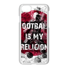 Football Is My Religion Apple Iphone 8 Seamless Case (white) by Valentinaart