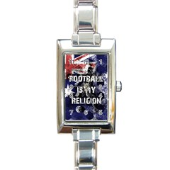 Football Is My Religion Rectangle Italian Charm Watch