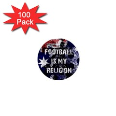 Football Is My Religion 1  Mini Buttons (100 Pack)  by Valentinaart