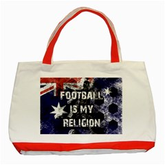 Football Is My Religion Classic Tote Bag (red) by Valentinaart