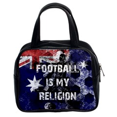 Football Is My Religion Classic Handbags (2 Sides)