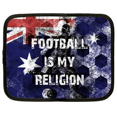 Football Is My Religion Netbook Case (xxl)  by Valentinaart