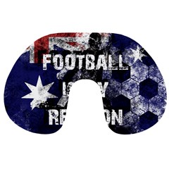 Football Is My Religion Travel Neck Pillows