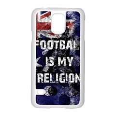Football Is My Religion Samsung Galaxy S5 Case (white)