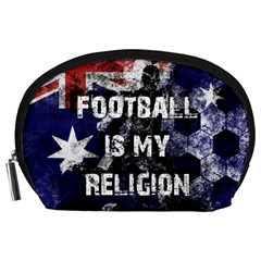 Football Is My Religion Accessory Pouches (large)  by Valentinaart