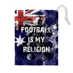 Football Is My Religion Drawstring Pouches (extra Large) by Valentinaart
