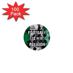 Football Is My Religion 1  Mini Buttons (100 Pack)