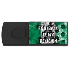 Football Is My Religion Rectangular Usb Flash Drive by Valentinaart