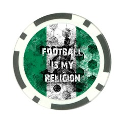 Football Is My Religion Poker Chip Card Guard (10 Pack)