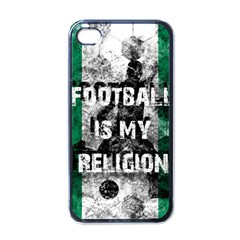 Football Is My Religion Apple Iphone 4 Case (black) by Valentinaart