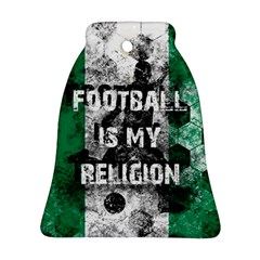 Football Is My Religion Bell Ornament (two Sides) by Valentinaart