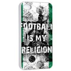 Football Is My Religion Apple Iphone 4/4s Seamless Case (white)
