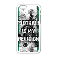 Football Is My Religion Apple Iphone 6/6s White Enamel Case