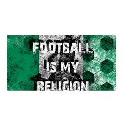 Football Is My Religion Satin Wrap