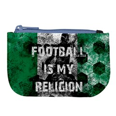 Football Is My Religion Large Coin Purse by Valentinaart