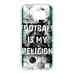 Football Is My Religion Samsung Galaxy S7 Edge White Seamless Case