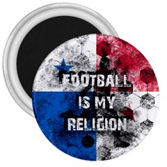 Football Is My Religion 3  Magnets by Valentinaart