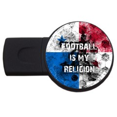 Football Is My Religion Usb Flash Drive Round (4 Gb) by Valentinaart