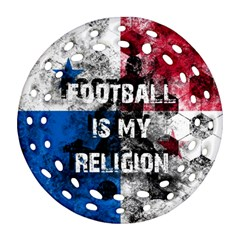 Football Is My Religion Ornament (round Filigree) by Valentinaart