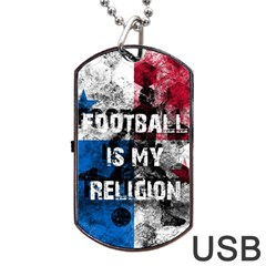 Football Is My Religion Dog Tag Usb Flash (one Side) by Valentinaart