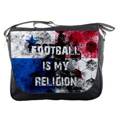Football Is My Religion Messenger Bags