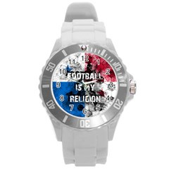 Football Is My Religion Round Plastic Sport Watch (l)