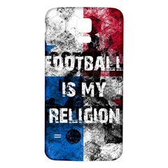 Football Is My Religion Samsung Galaxy S5 Back Case (white) by Valentinaart