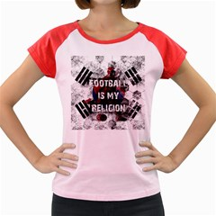 Football Is My Religion Women s Cap Sleeve T Shirt