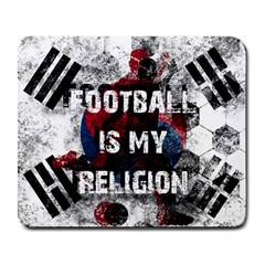 Football Is My Religion Large Mousepads by Valentinaart
