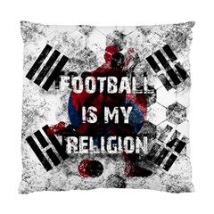 Football Is My Religion Standard Cushion Case (one Side) by Valentinaart