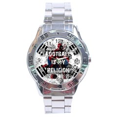 Football Is My Religion Stainless Steel Analogue Watch by Valentinaart
