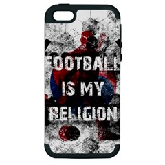 Football Is My Religion Apple Iphone 5 Hardshell Case (pc+silicone) by Valentinaart