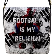 Football Is My Religion Flap Messenger Bag (s) by Valentinaart