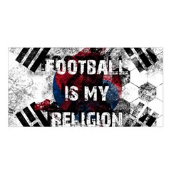 Football Is My Religion Satin Shawl by Valentinaart
