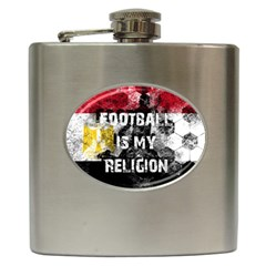 Football Is My Religion Hip Flask (6 Oz) by Valentinaart