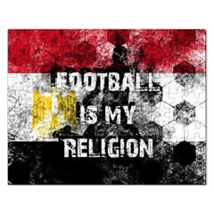 Football Is My Religion Rectangular Jigsaw Puzzl by Valentinaart
