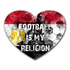 Football Is My Religion Heart Mousepads by Valentinaart