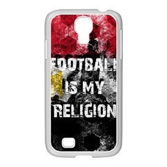 Football Is My Religion Samsung Galaxy S4 I9500/ I9505 Case (white) by Valentinaart