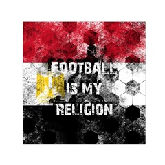 Football Is My Religion Small Satin Scarf (square) by Valentinaart