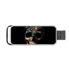 Skull Portable Usb Flash (one Side) by Valentinaart