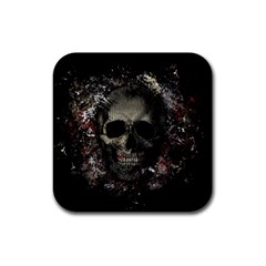 Skull Rubber Square Coaster (4 Pack)