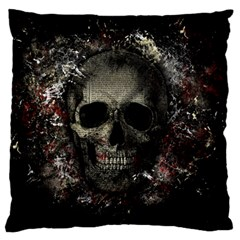Skull Large Cushion Case (two Sides) by Valentinaart
